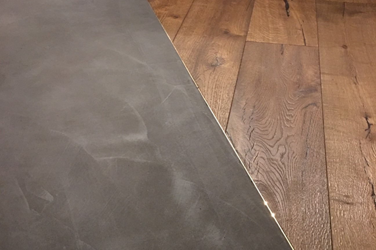 Hoxton Hotel polished concrete flooring in Ardex Pandomo Loft dark grey