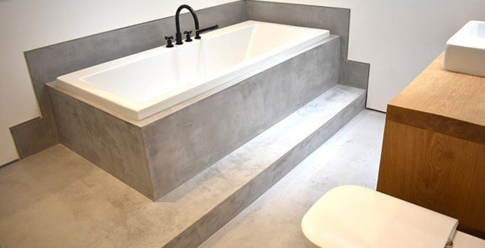Polished Bathroom Concrete Floors By Polished Concrete Specialist