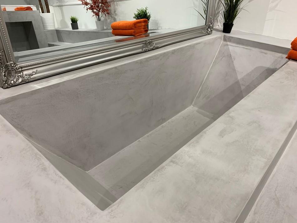 Polished Concrete Speciliats Showroom Bathroom Bath