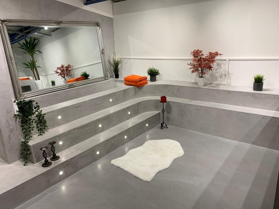 Polished Concrete Speciliats Showroom Bathroom