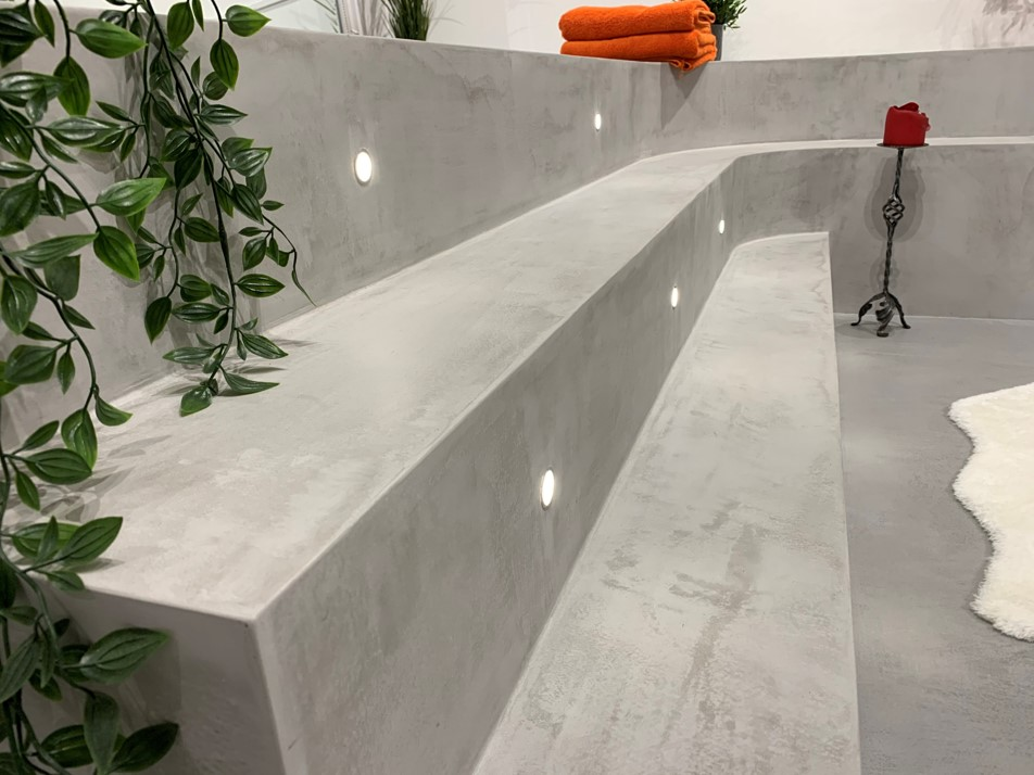 Polished Concrete Speciliats Showroom Stairs