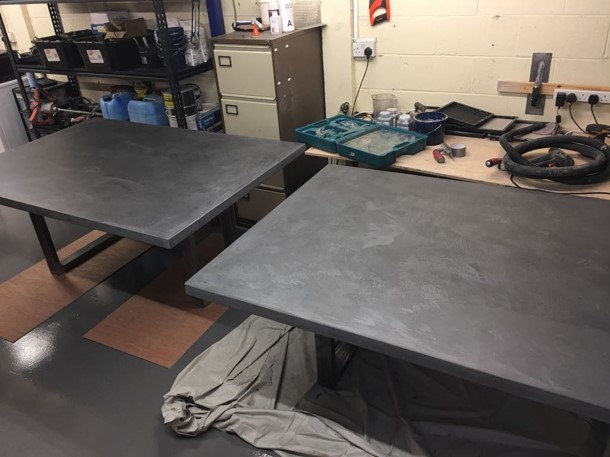 Polished Concrete Speciliats Showroom Tables