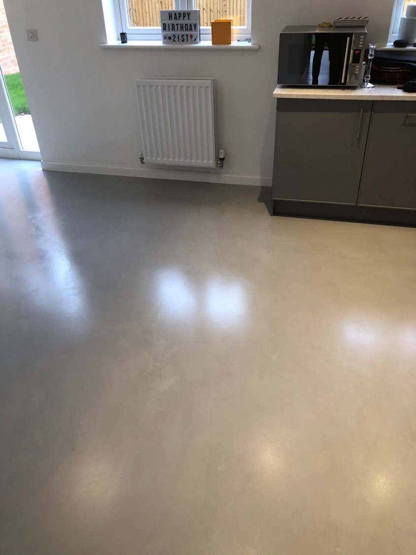 Polished concrete floor Kitchen diner in Bedfordshire by Polished Concrete Specialists 2