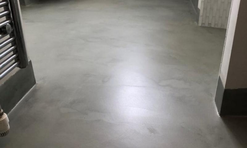 Polished Concrete Floors Bathroom Hampstead London by Polished Concrete Specialists