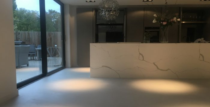 Polished concrete floors Ardex microtopping from Polished Concrete specialists in Fulbourne Cambridge Kitchen Diner Header