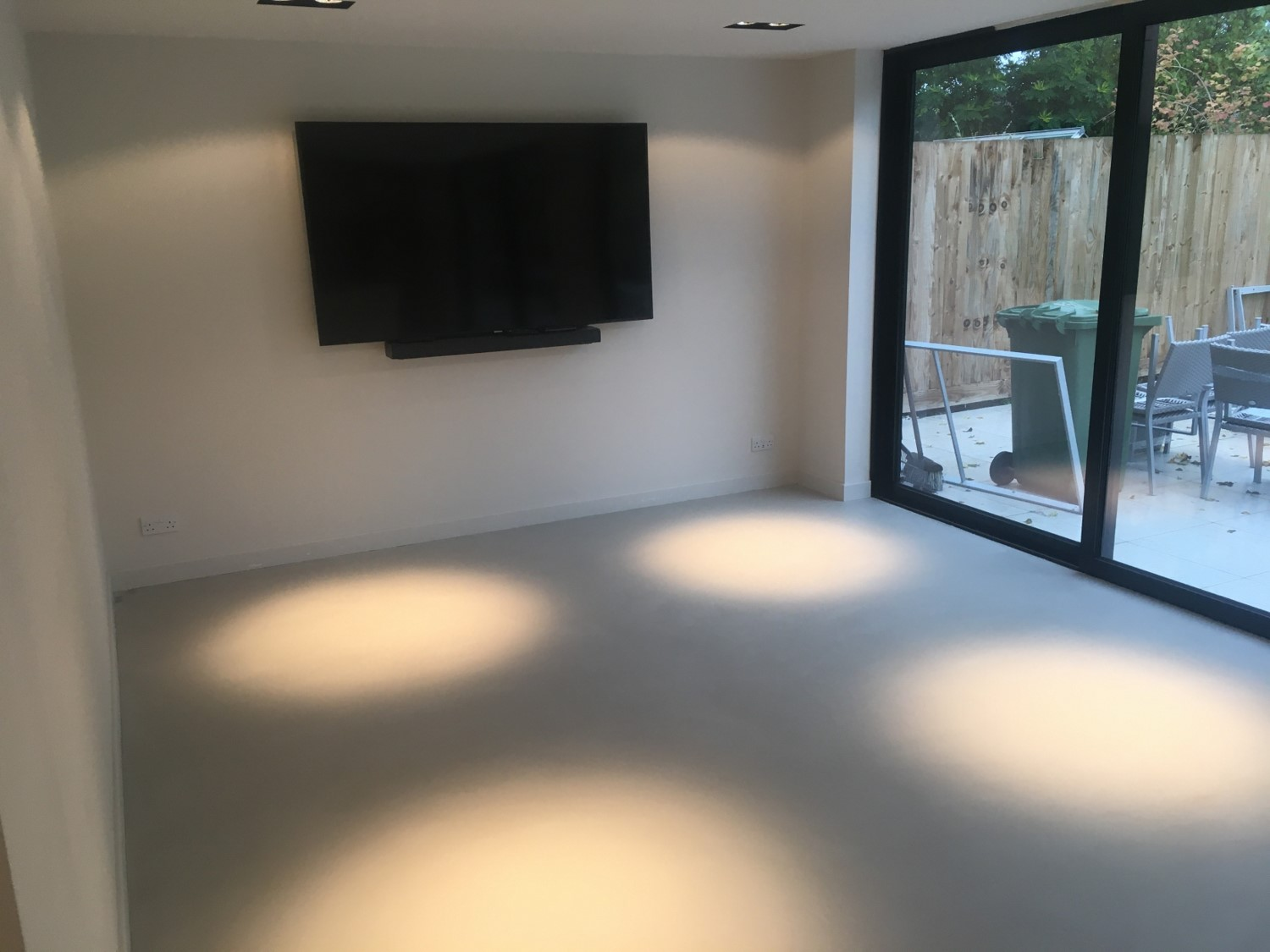 Polished concrete floors Ardex microtopping from Polished Concrete specialists in Fulbourne Cambridge Living Room