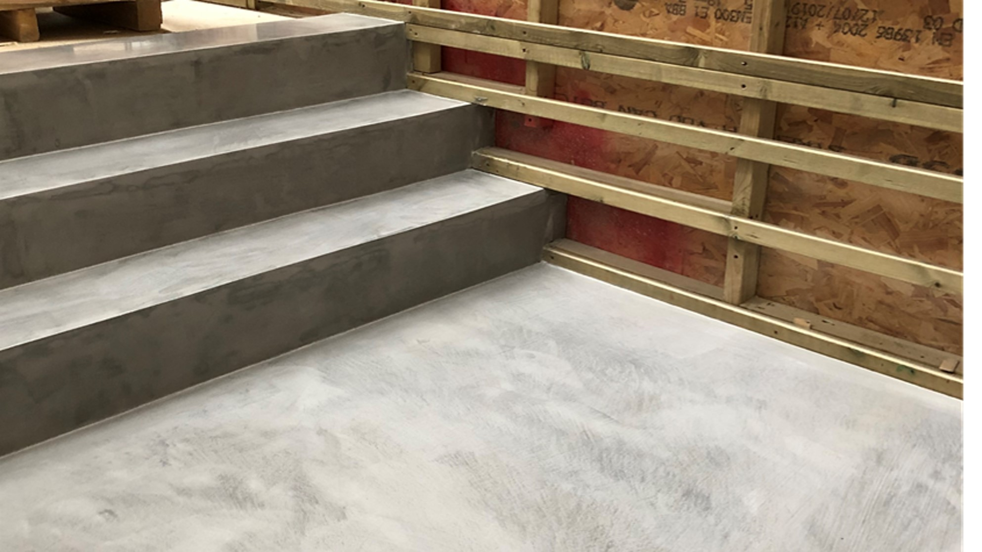 Ideal work microtopping microcement stairs by Polished Concrete Specialists in East Sussex