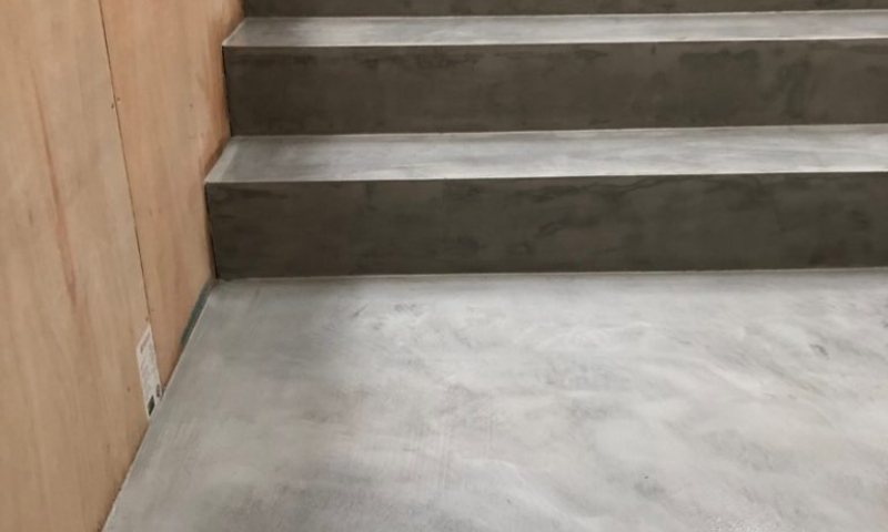 Ideal work microtopping microcement stairs by Polished Concrete Specialists in East Sussex 4